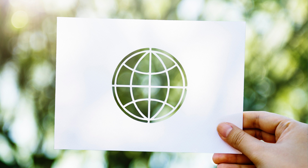 Photo of a cutout of a globe, tying into the article about climate leaders rejecting activist fantasies at GCAS.