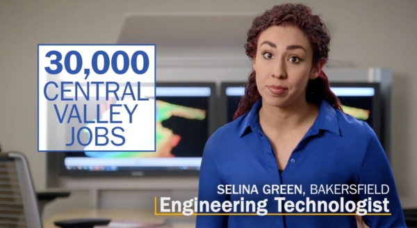 Photo of Bakersfield Engineering Technologist Selina Green, with the message: